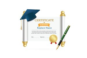 Cap Student and Roll Certificate