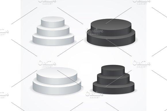 Blank White And Black Podium Set