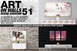 Canvas Mockups - Frames Mockups v 51