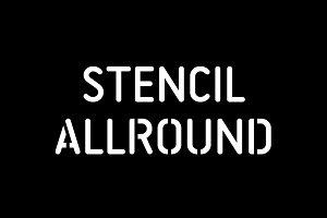 Stencil Allround Typeface