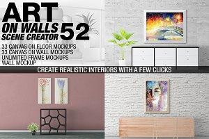 Canvas Mockups - Frames Mockups v 52