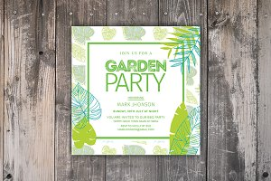 Summer Garden Party Invitation