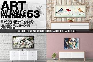 Canvas Mockups - Frames Mockups v 53