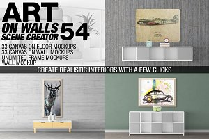 Canvas Mockups - Frames Mockups v 54
