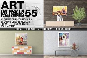 Canvas Mockups - Frames Mockups v 55