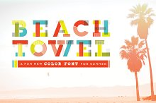 """Beach Towel"" Color Font"