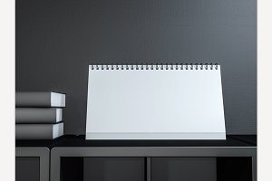 Image desk calendar mockup.