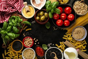 Tasty food ingredients for cooking