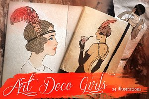 Art Deco Girls Illustrations Vol. 1