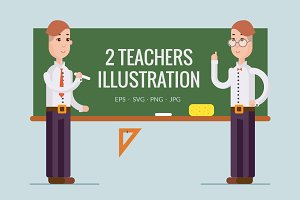 2 teachers illustration