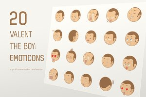 20 Valent the Boy Emoticons