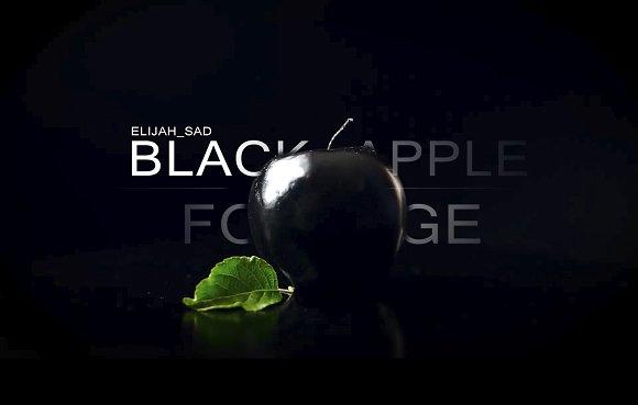 Black Apple On A Black Background