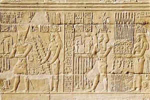 Egyptian hieroglyph Background.