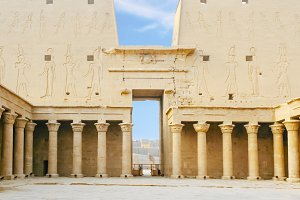 Temple of Horus at Edfu in Egypt