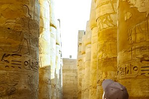Karnak's temple in Luxor, Egypt.