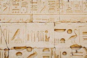 Egyptian hieroglyph background.