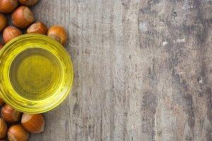 Hazelnuts oil