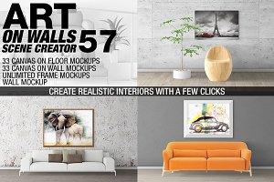 Canvas Mockups - Frames Mockups v 57