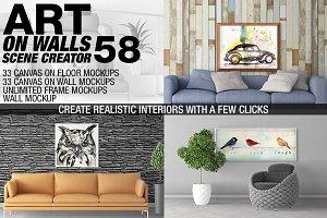 Canvas Mockups - Frames Mockups v 58