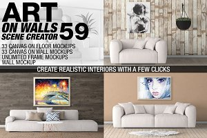 Canvas Mockups - Frames Mockups v 59