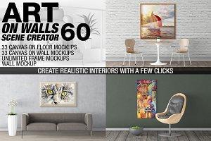 Canvas Mockups - Frames Mockups v 60
