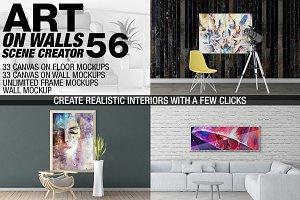 Canvas Mockups - Frames Mockups v 56