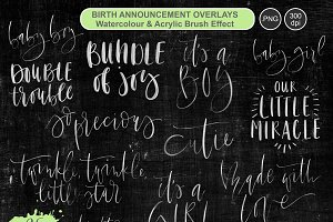 Birth Announcement Overlays