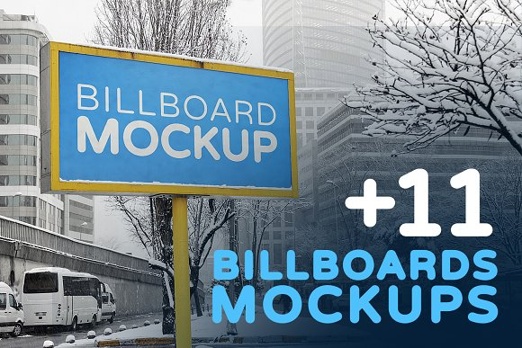 Billboards Mockups In Winter