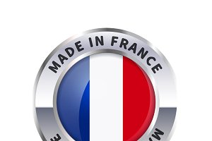Metal badge, made in France