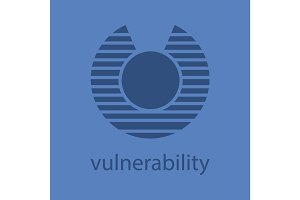 Vulnerability glyph color icon