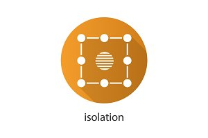 Isolation flat design long shadow icon
