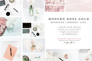 Neutral Rose Gold Stock Photo Bundle