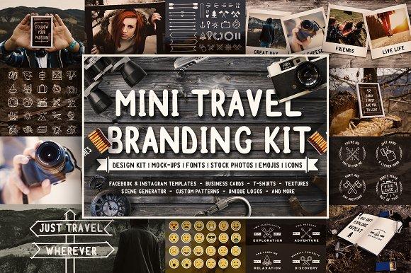 Mini Travel Branding Kit Preview