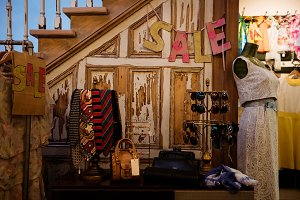 Various accessories on display