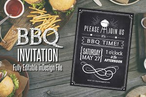 Chalkboard BBQ Party Invite