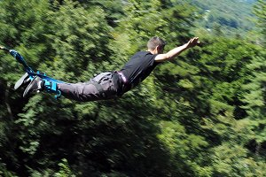 A man doing Bungee Jump