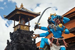 Balinese demon for Nyepi parade