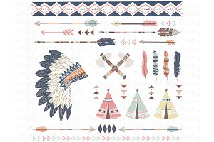 Tribal, Arrows, Teepee Tents