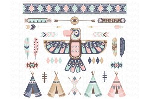 Tribal, Thunderbird, Teepee Tents