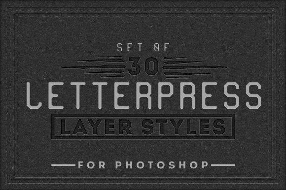 Letterpress Layer Styles Photoshop