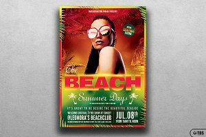 Summer Days Flyer Template