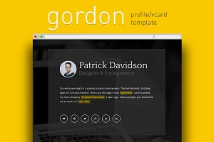 Gordon Profile / Vcard Template