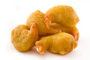 Deep fried shrimps