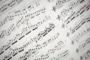 Close-up of music sheet