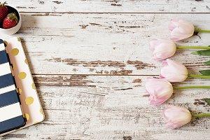 Feminine floral frame