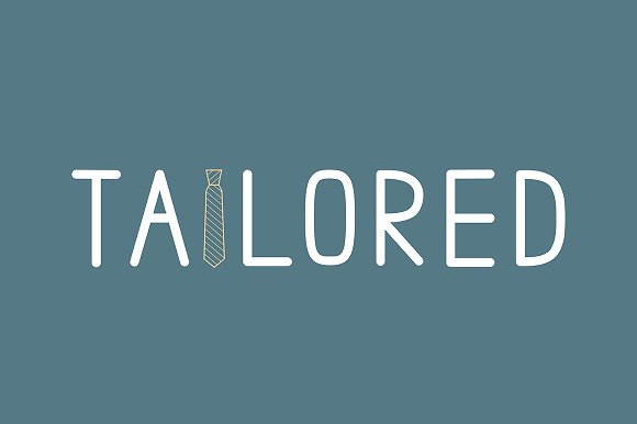 Tailored Clean Uppercase Font