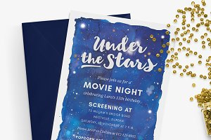 Under the Stars - Movie Night Invite