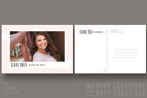 Mod Thank You Postcard