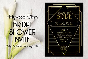 Hollywood Glam Bridal Shower Invite