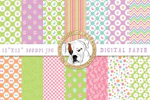 Happy Easter Digital Paper